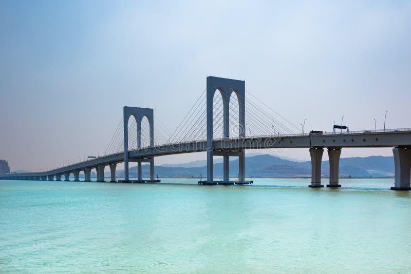 Opinión Sai Van Bridge en Macao fotos de archivo