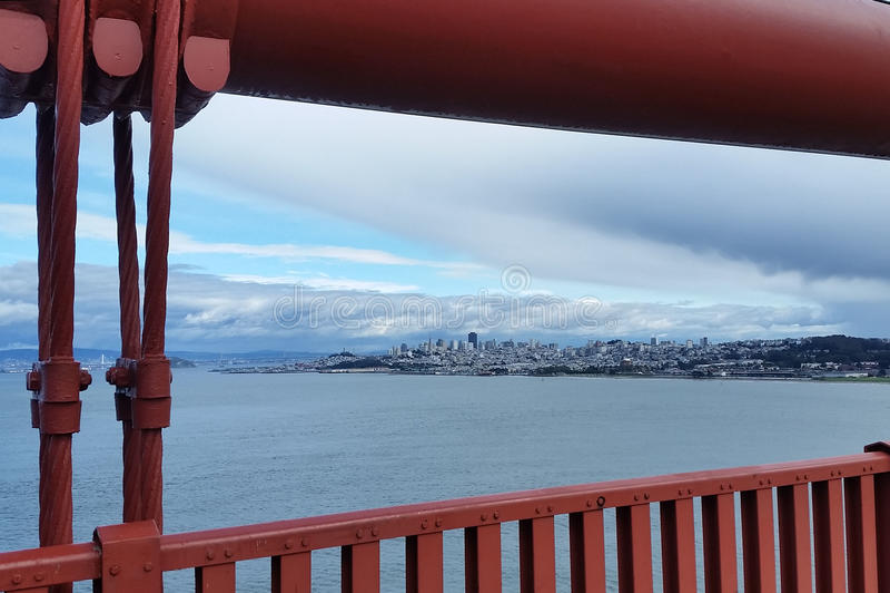 Opinión San Fransisco de puente Golden Gate imagen de archivo libre de regalías