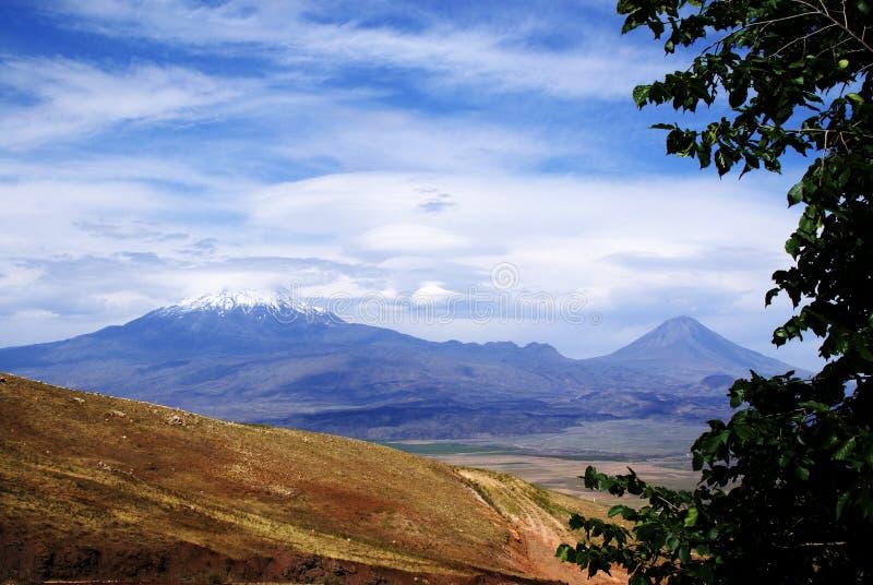 Opinión sobre Ararat de Turquía fotos de archivo libres de regalías