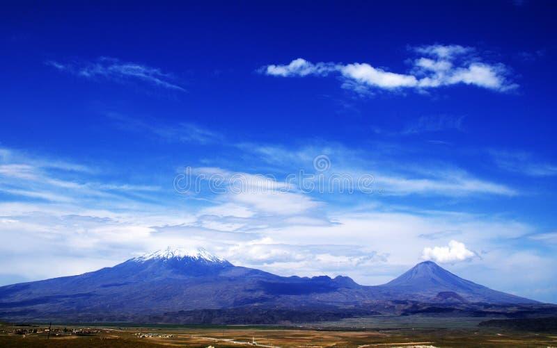 Opinión sobre Ararat de Turquía imagenes de archivo