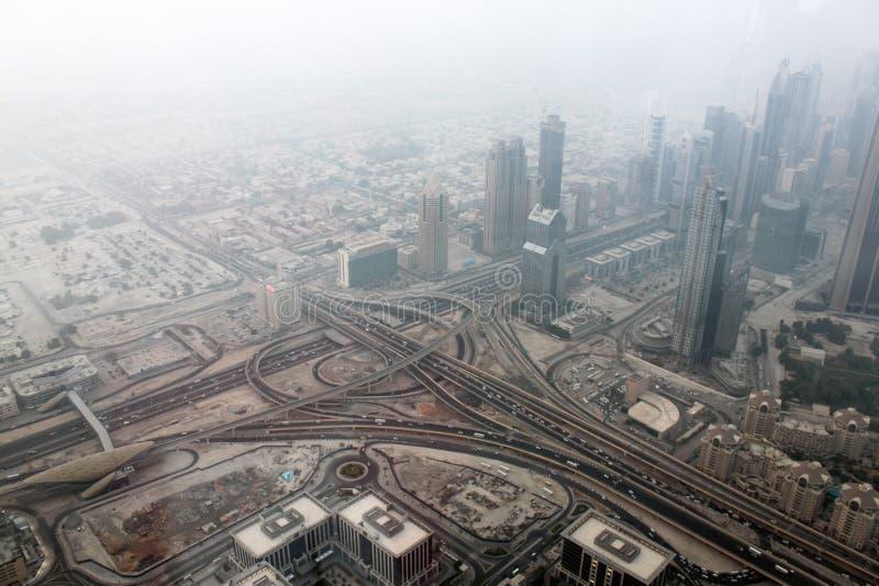 Opinión sobre Dubai céntrico imágenes de archivo libres de regalías