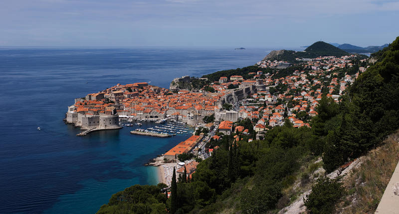 Opinión sobre Dubrovnik imagen de archivo libre de regalías