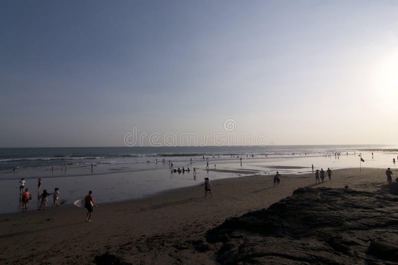 Opinión sobre Echo Beach en Canggu, Bali imagen de archivo