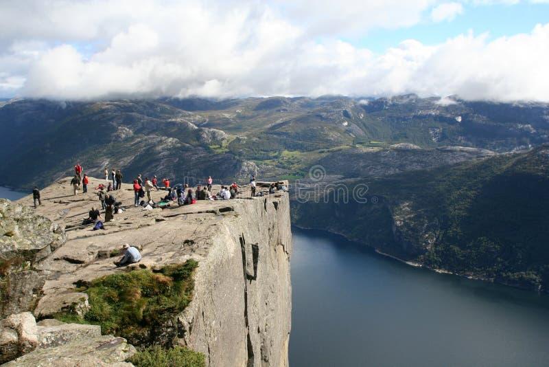 Opinión sobre el Lysefjord fotografía de archivo libre de regalías