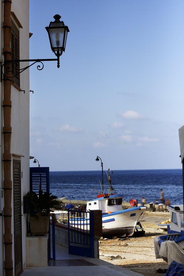 Opini?n sobre el mar de la isla de Levanzo Egadi sicilia Italia imágenes de archivo libres de regalías