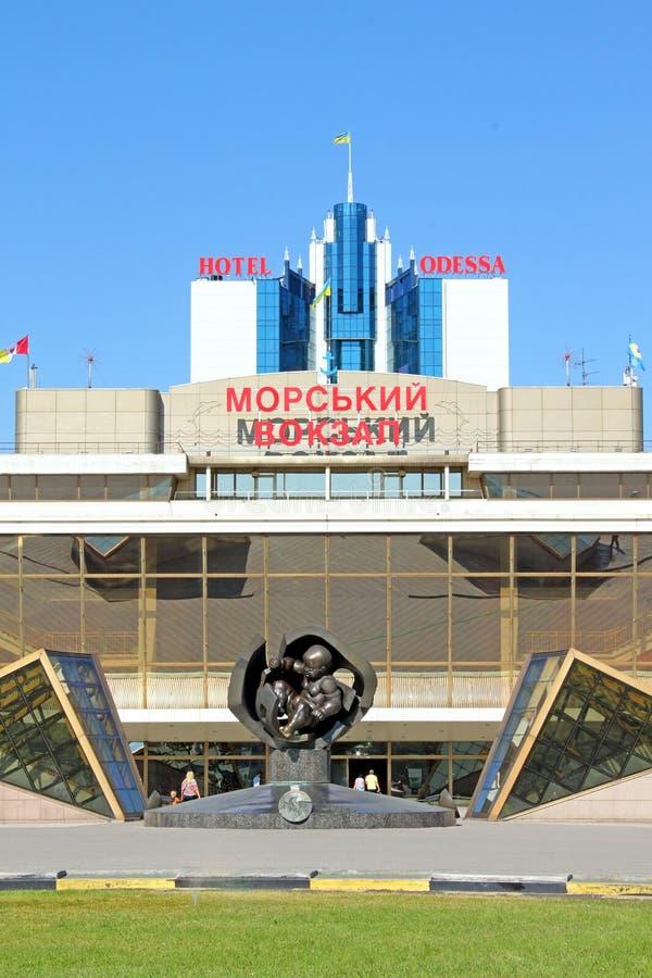 Opinión sobre el puerto de hotel de Odessa y de Odessa fotografía de archivo libre de regalías