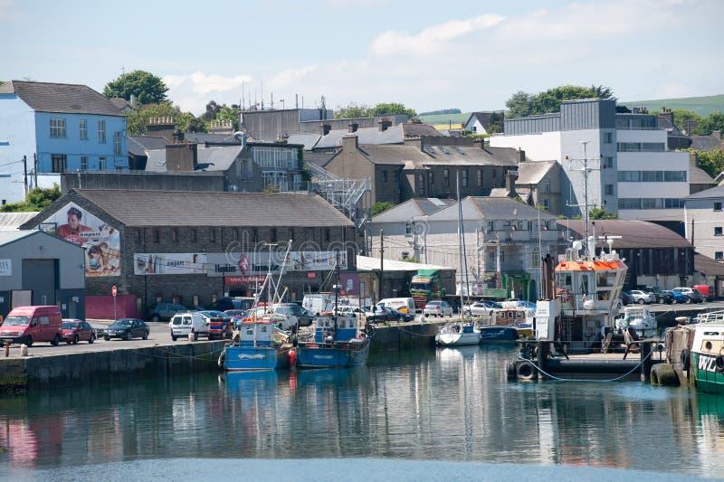 Opinión sobre el puerto de Wicklow fotografía de archivo libre de regalías