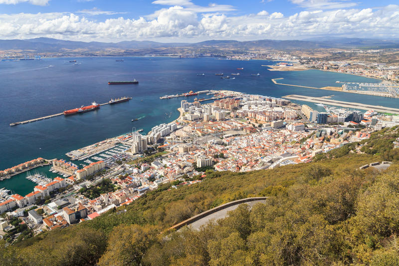 Opinión sobre Gibraltar fotos de archivo libres de regalías