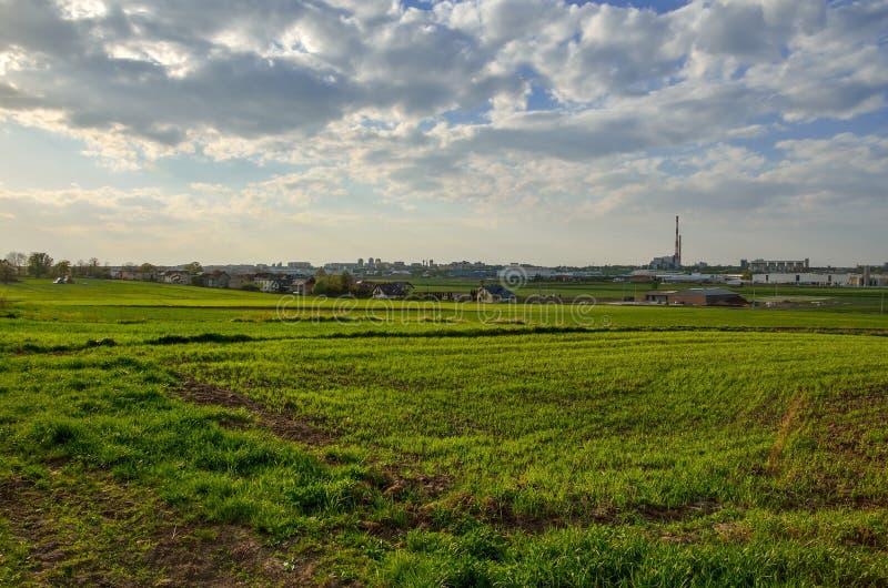 Opinión sobre la ciudad de Tychy en Polonia fotos de archivo libres de regalías