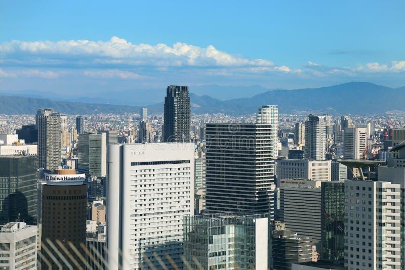 Opinión sobre la ciudad Osaka, Japón imágenes de archivo libres de regalías