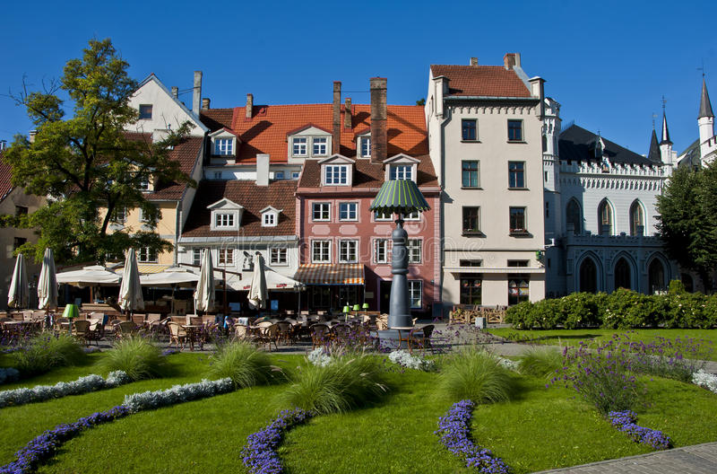 Opinión sobre la ciudad vieja de Riga foto de archivo libre de regalías
