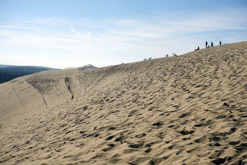 Opinión sobre la duna de Pilat foto de archivo