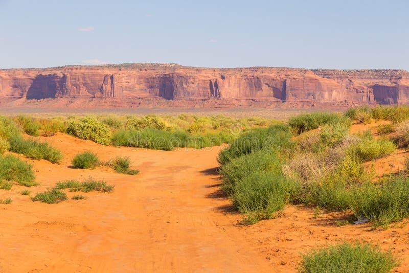 Opinión sobre la formación de roca en Arizona, los E.E.U.U. imagenes de archivo