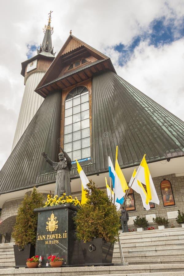Fachada del santuario de Krzeptowki - Polonia. imágenes de archivo libres de regalías