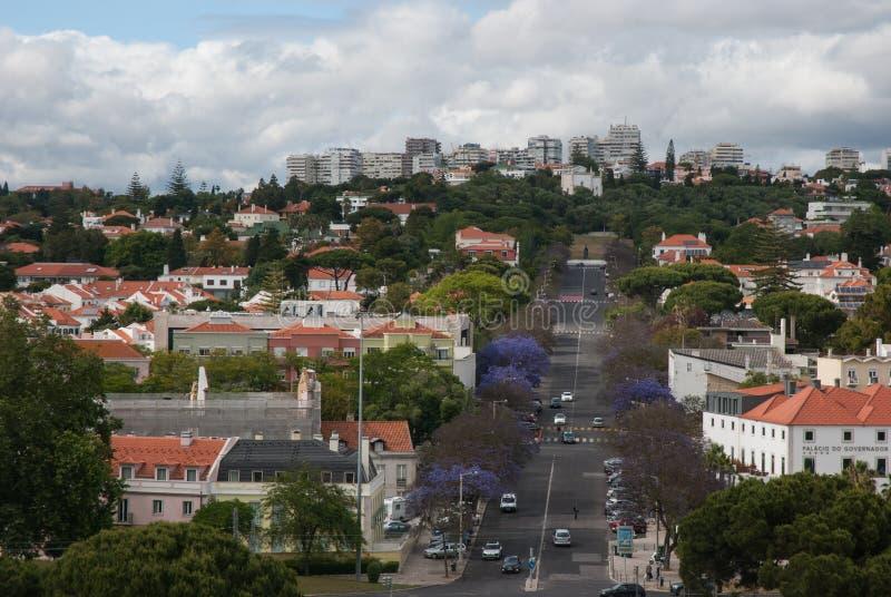 Opinión sobre Lisboa fotografía de archivo