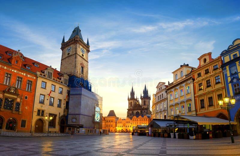 Opinión sobre los carillones de Praga fotografía de archivo libre de regalías