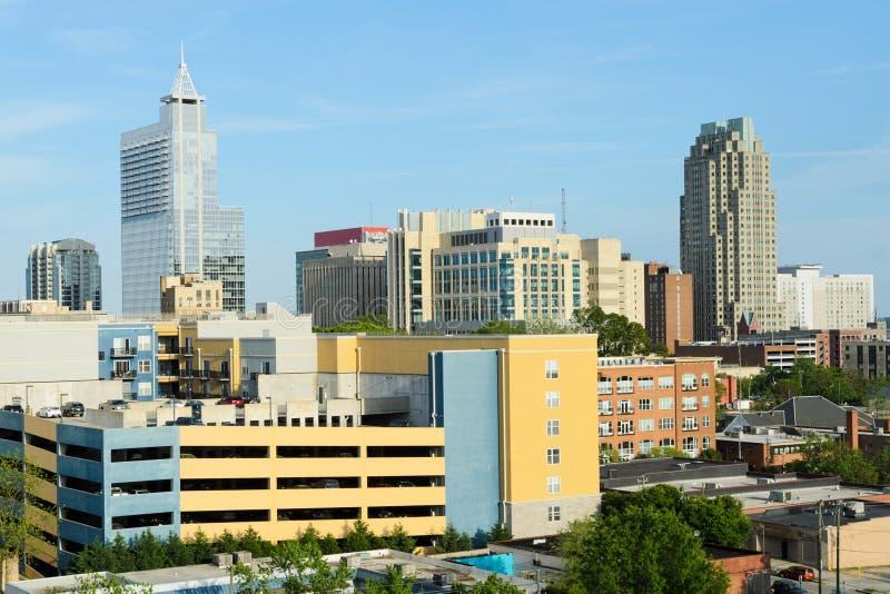 Opinión sobre Raleigh céntrico, NC imágenes de archivo libres de regalías
