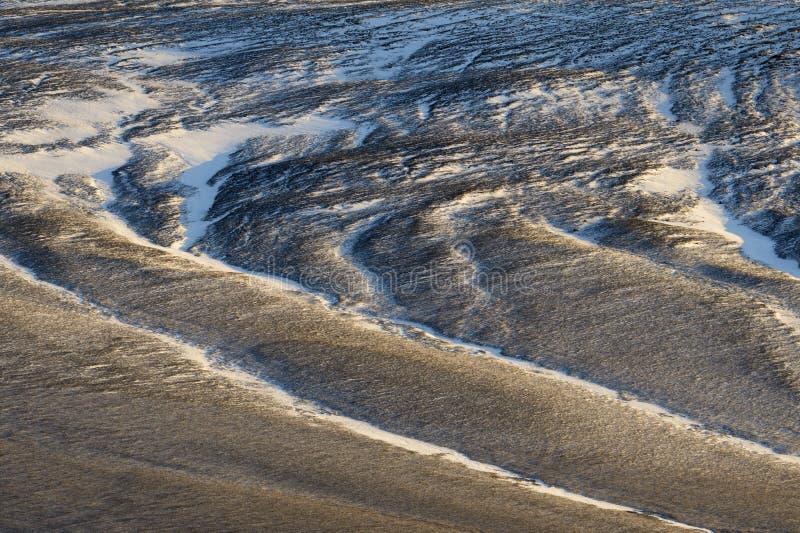 Opinión sobre un paisaje volcánico congelado fotografía de archivo libre de regalías