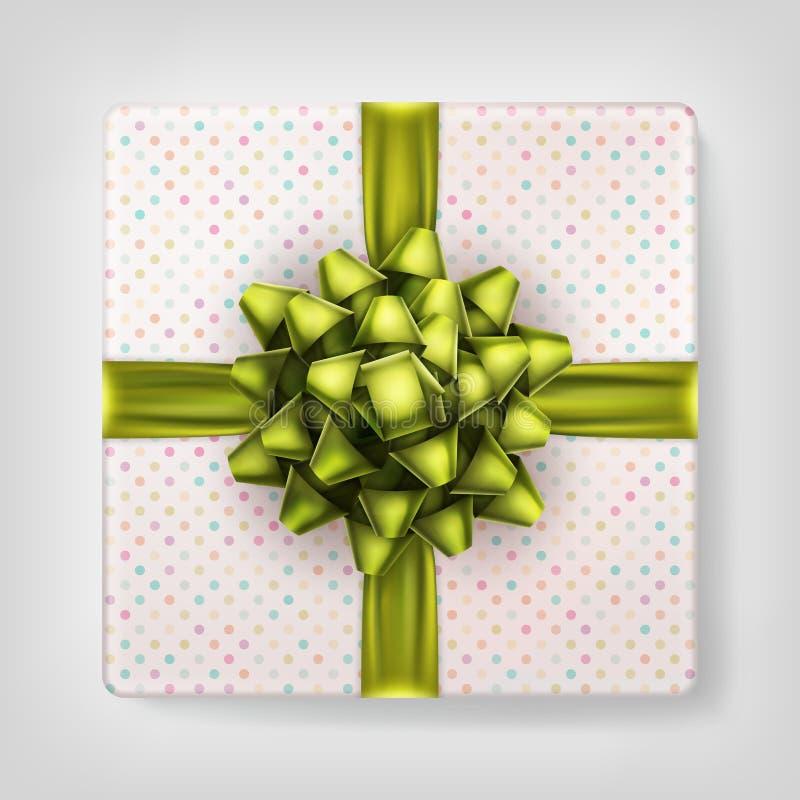 Opinión superior amarilla de la caja de regalo del arco EPS 10 libre illustration