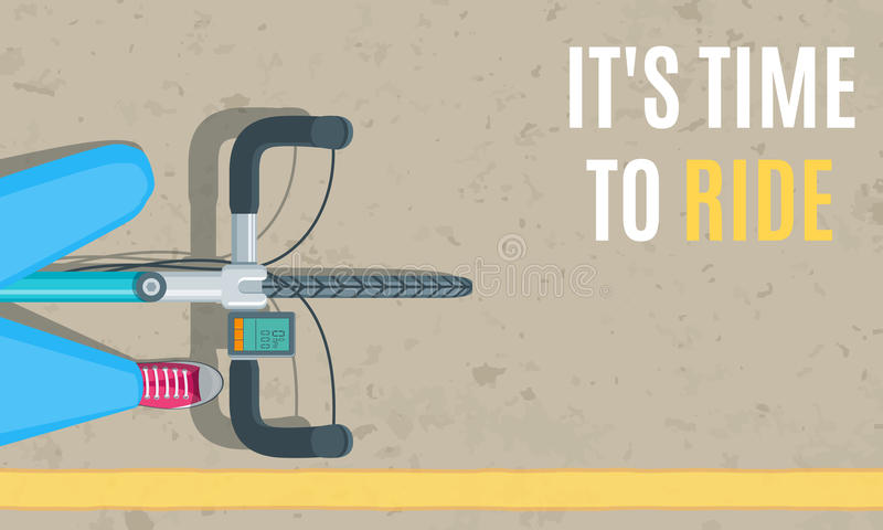 Opinión superior de la bicicleta ilustración del vector