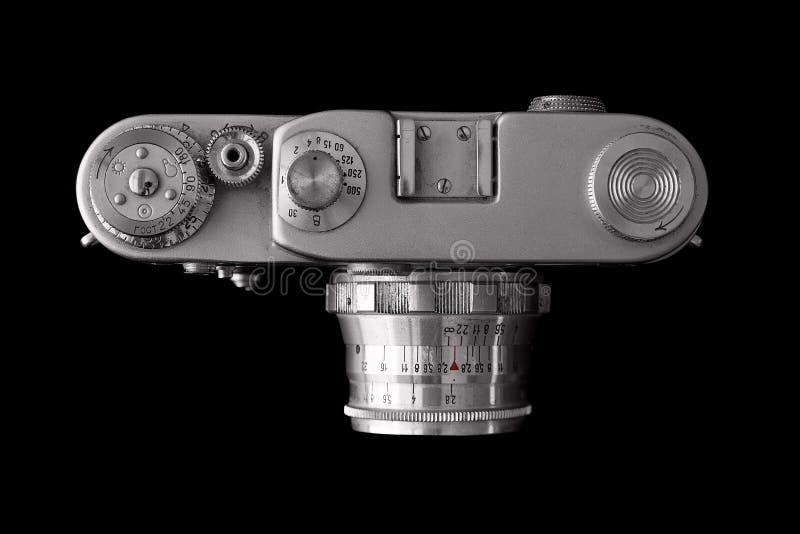 Opinión superior de la cámara vieja foto de archivo libre de regalías