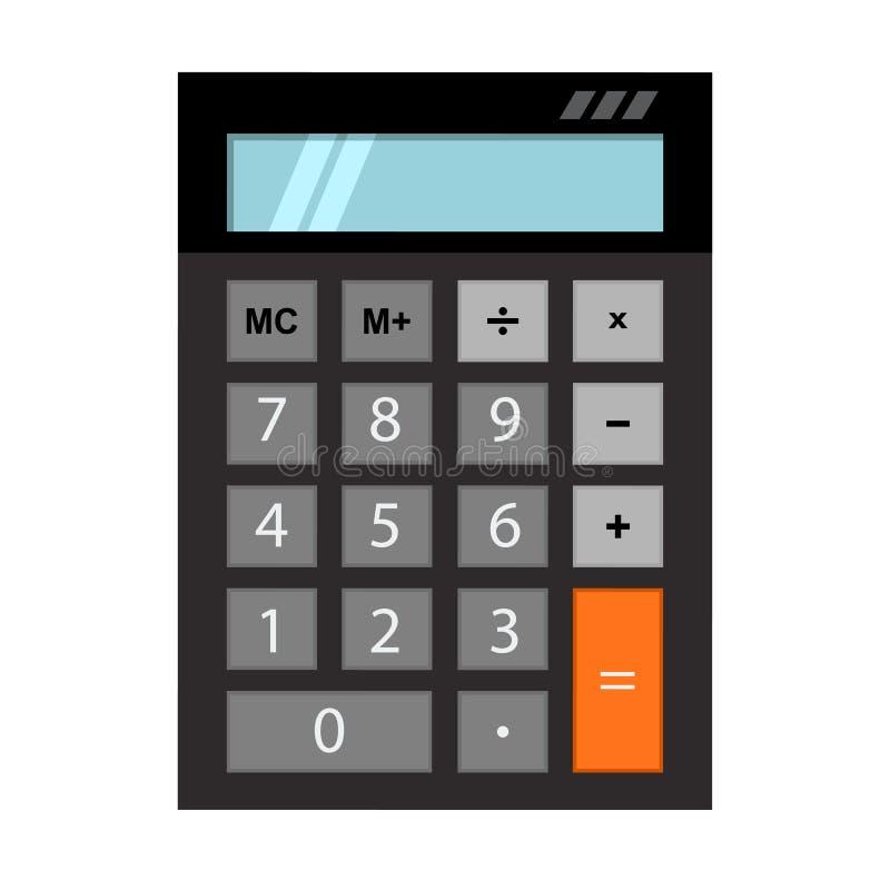Opinión superior de la calculadora, con la pantalla azul clara vacía Ilustraci?n del vector libre illustration
