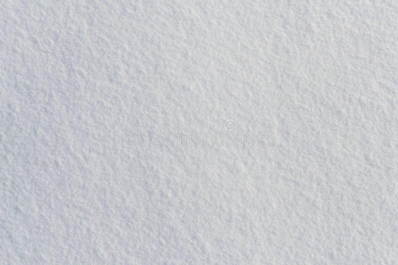 Opinión superior de la textura escarchada fresca blanca de la nieve imagenes de archivo
