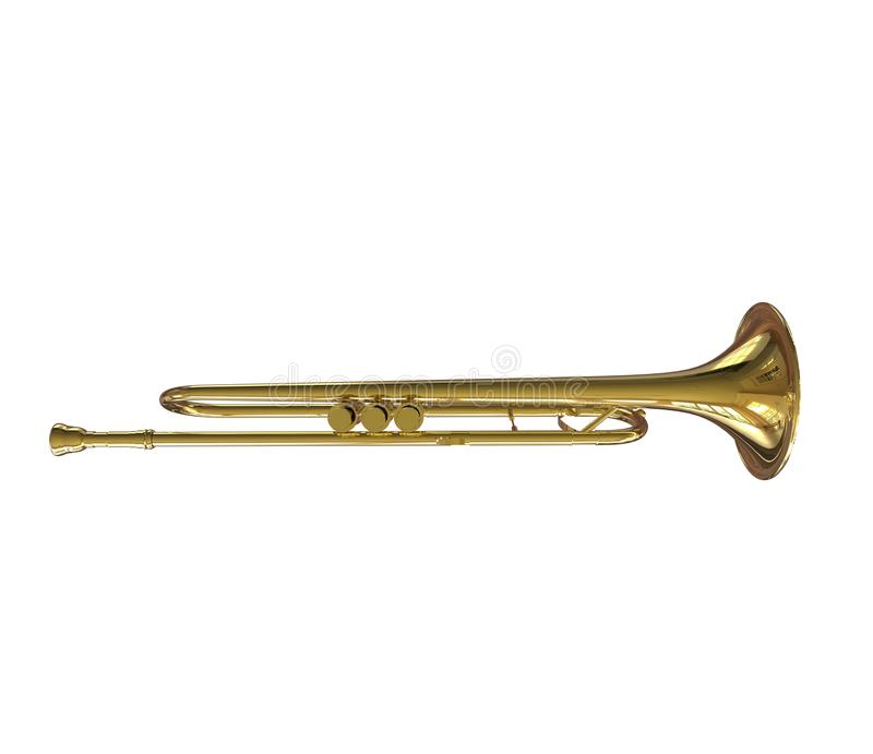 Opinión superior de la trompeta fotografía de archivo libre de regalías