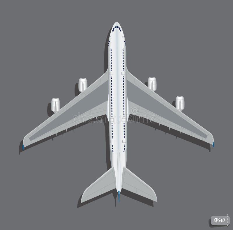 Opinión superior del aeroplano del vector libre illustration