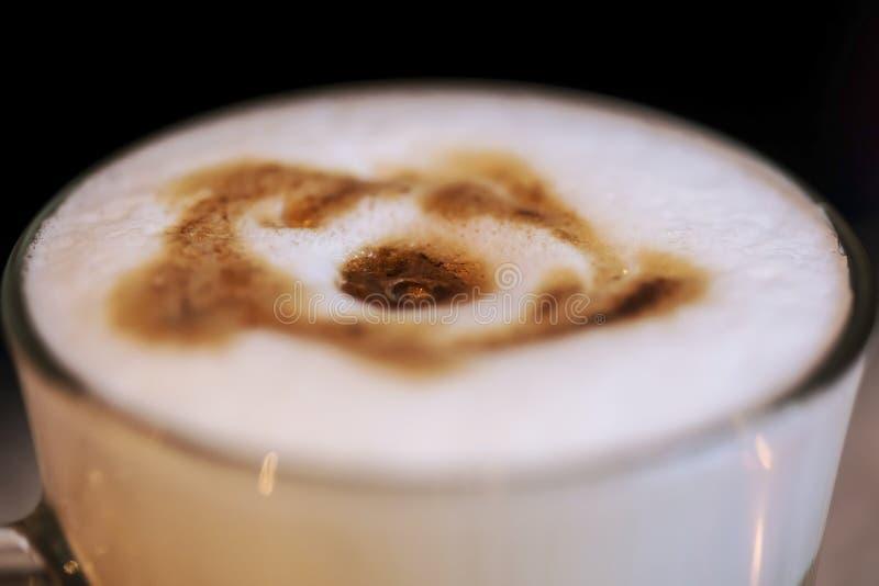 Opinión superior del café del Latte foto de archivo