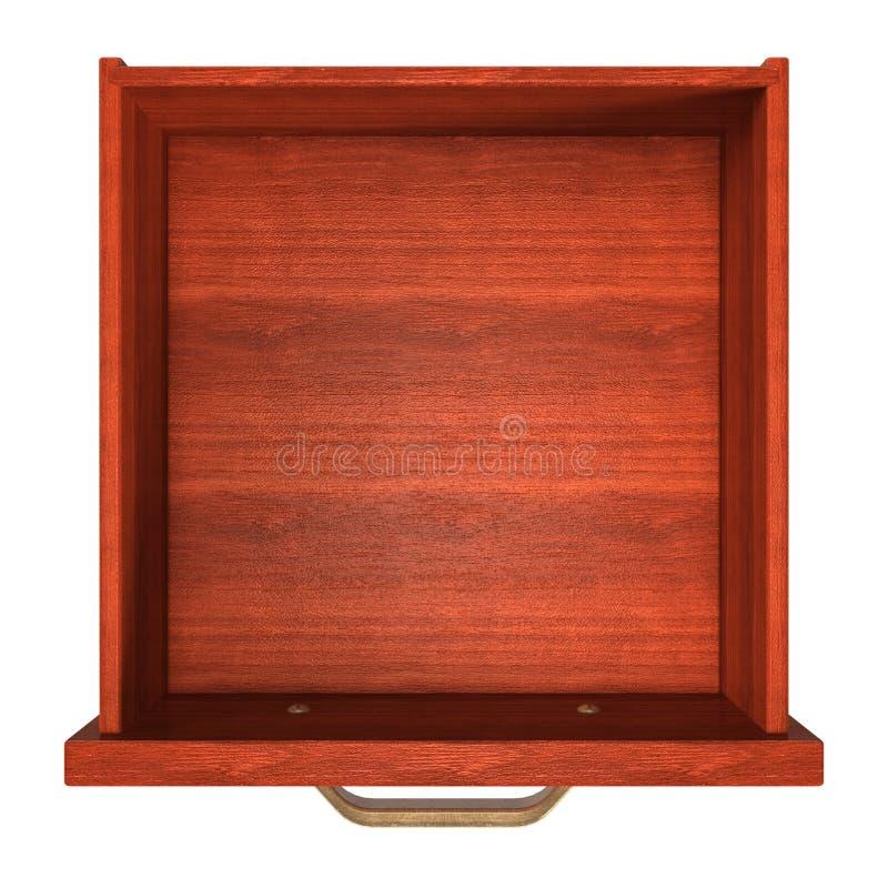 Opinión superior del cajón stock de ilustración