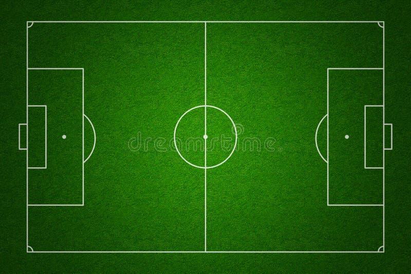 Opinión superior del campo de fútbol con las marcas estándar libre illustration