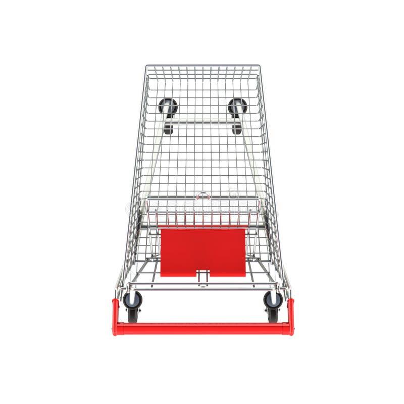 Opinión superior del carro de la compra del supermercado sin la sombra en el fondo blanco 3d libre illustration