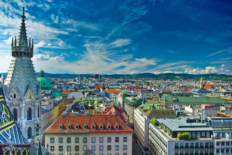 Opinión superior del centro de ciudad de Viena imagen de archivo libre de regalías