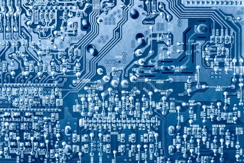 Opinión superior del chip de ordenador imagenes de archivo