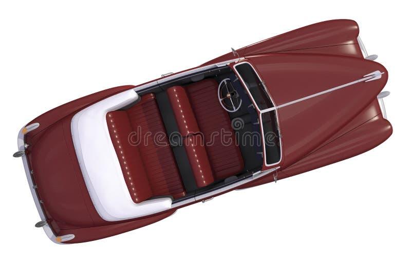 Opinión superior del coche del Oldtimer de Brown stock de ilustración