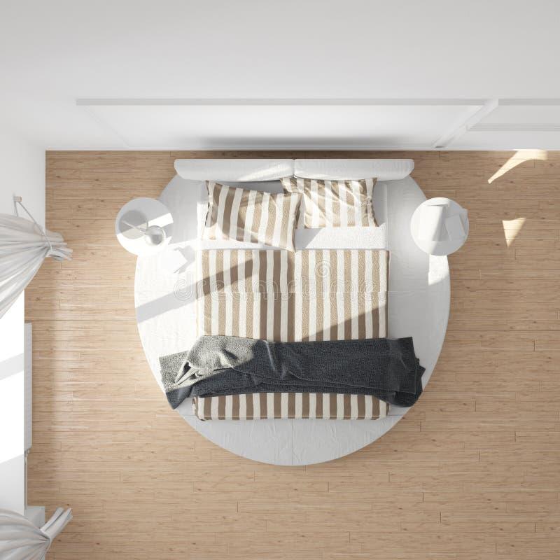 Opinión superior del dormitorio libre illustration