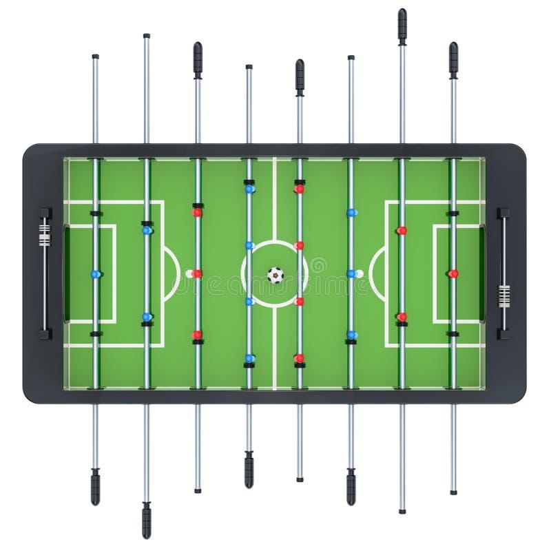 Opinión superior del fútbol de la tabla representación 3d ilustración del vector