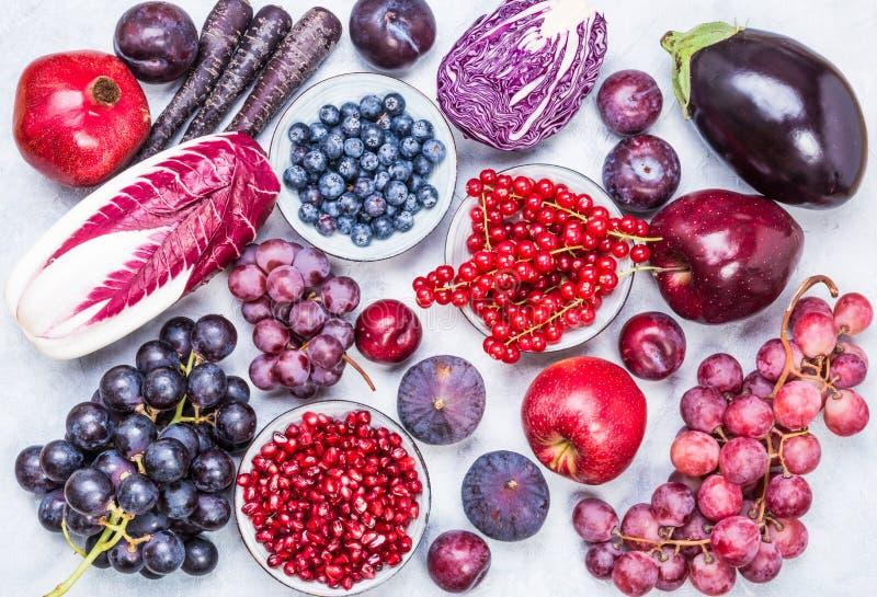 Opinión Superior Del Fondo De Las Frutas Y Verduras Del