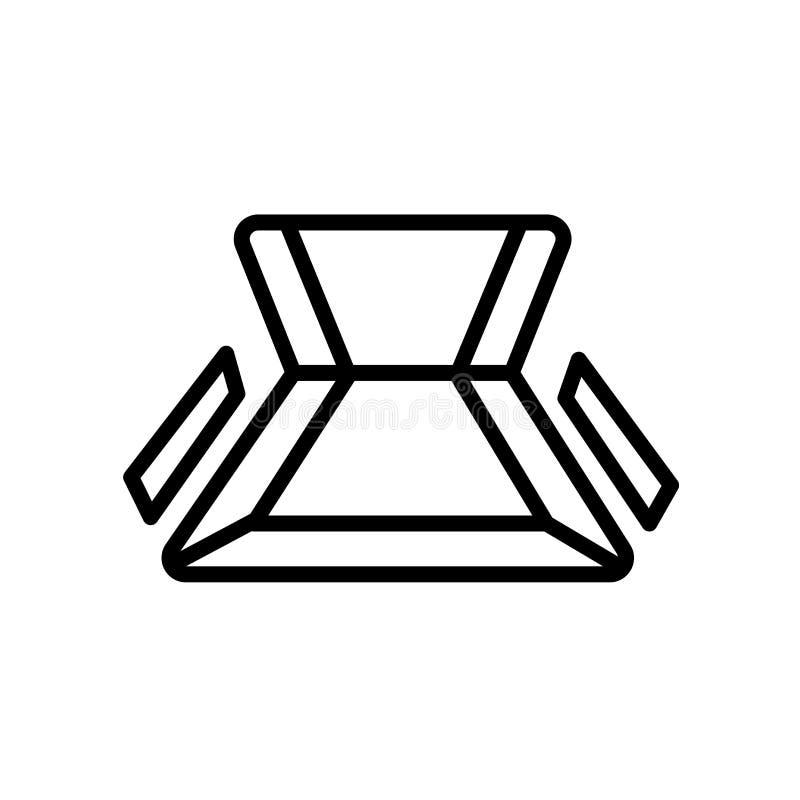opinión superior del icono de la silla aislada en el fondo blanco stock de ilustración