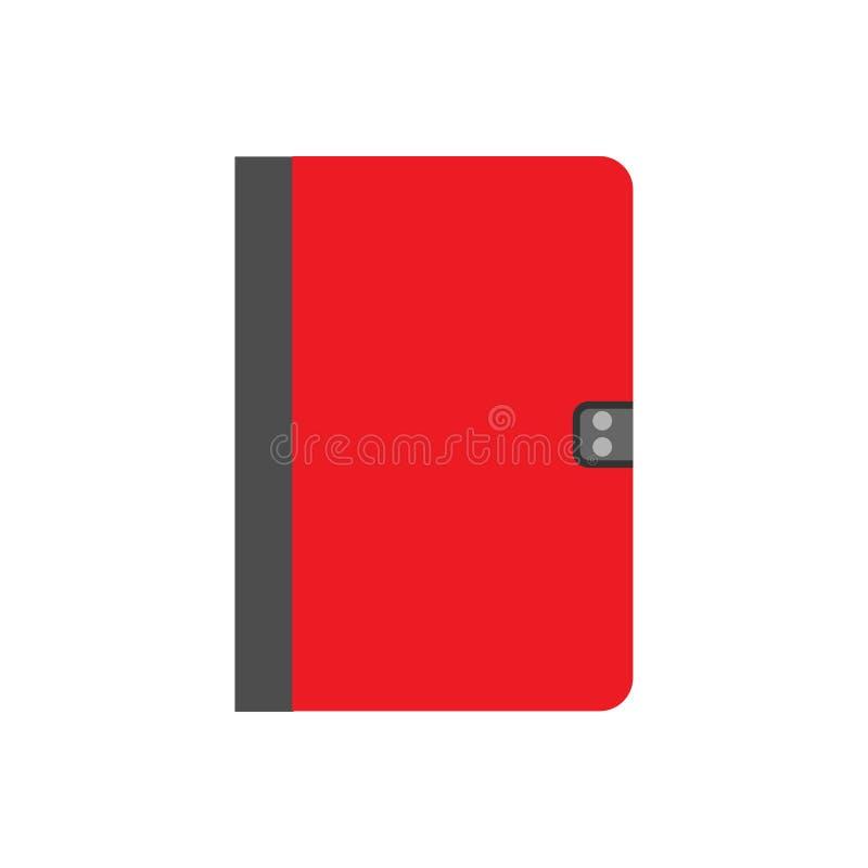 Opinión superior del icono del vector del documento de la educación del papel de concepto del cuaderno Mobiliario de oficinas bla stock de ilustración