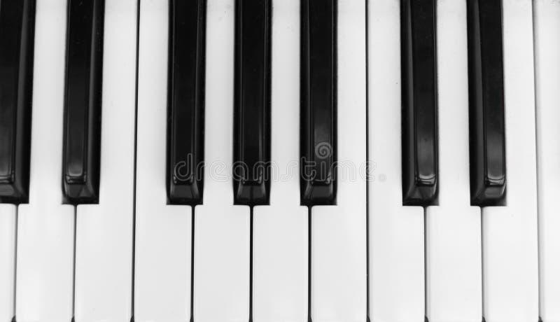 Opinión superior del tablero dominante del piano del sintetizador Teclado electrónico profesional de Midi con llaves blancos y ne foto de archivo libre de regalías