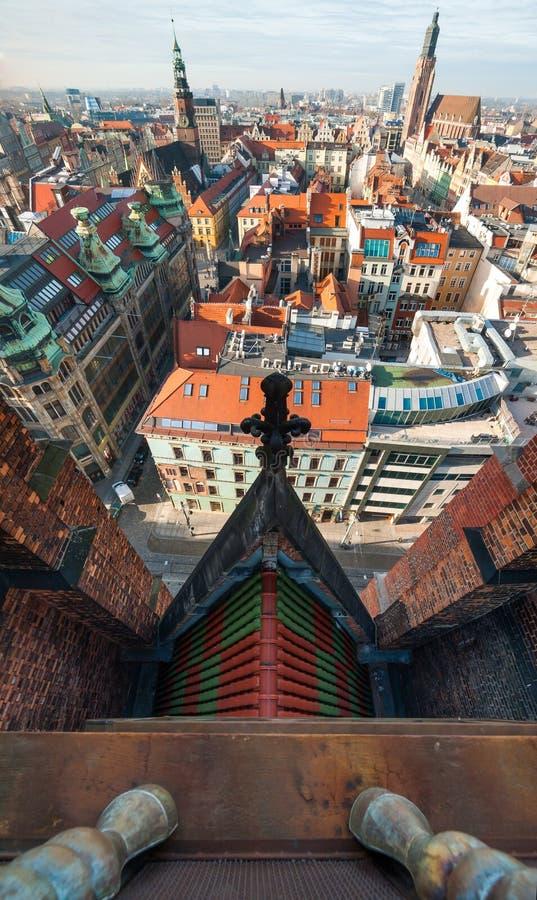 Opinión superior del Wroclaw foto de archivo libre de regalías