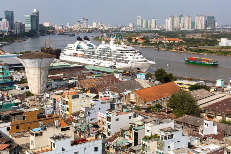 Opinión superior Ho Chi Minh City (Saigon) foto de archivo