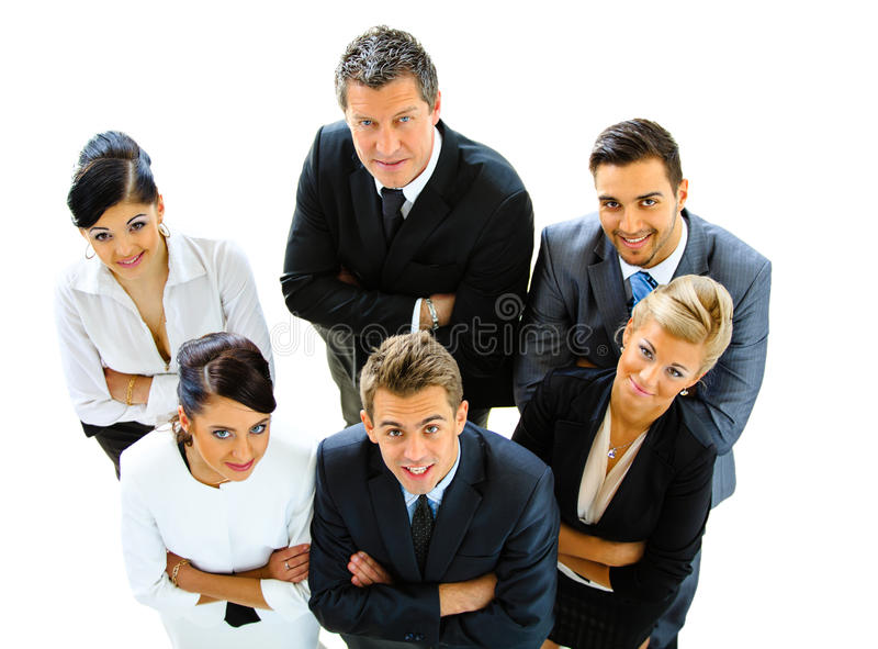 Opinión superior hombres de negocios foto de archivo libre de regalías