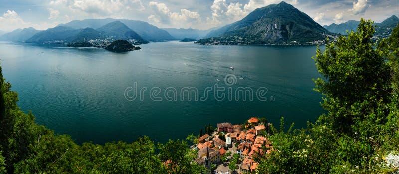 Opinión superior sobre Lago di Como foto de archivo libre de regalías