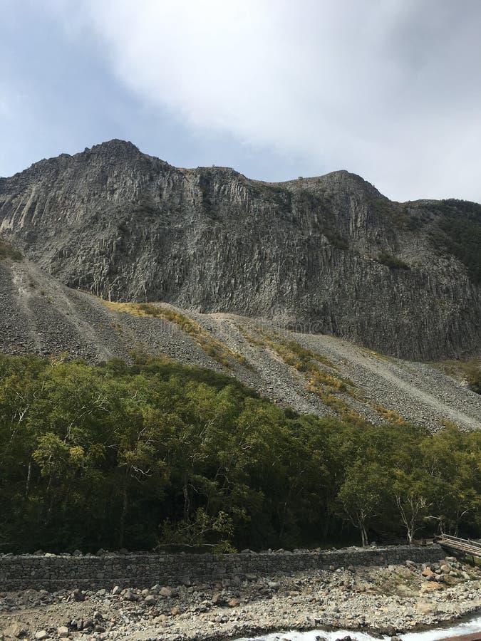 Opinión superior y paisaje de la buena montaña en la montaña de Changbai imágenes de archivo libres de regalías
