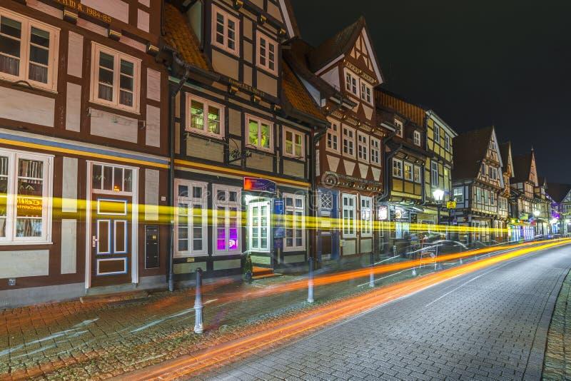 Opinión típica de la calle en Celle imagen de archivo