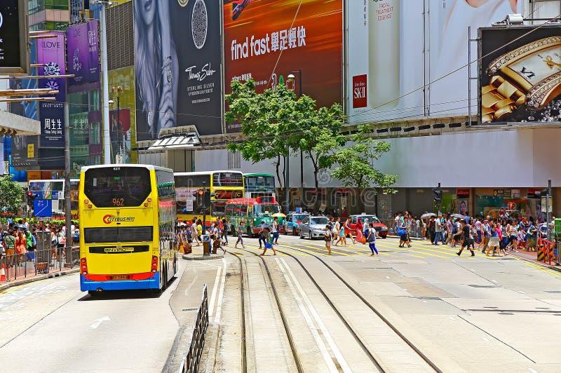 Opinión urbana de la bahía del terraplén, Hong-Kong imagen de archivo libre de regalías