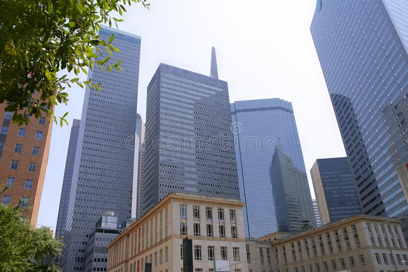 Opinión urbana de los bulidings de la ciudad céntrica de Dallas foto de archivo libre de regalías